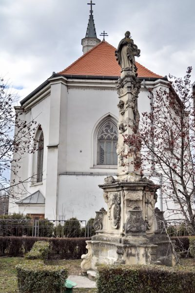 (cod 4947) Statuia Fecioarei Maria din Cluj