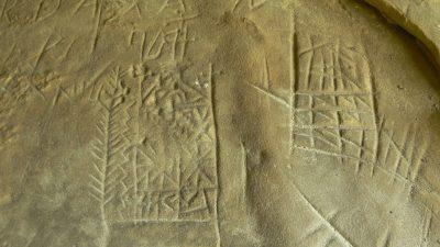 (cod 4721) Pietrele scrise din Muntii Buzaului
