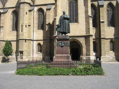 (cod 4323) Statuia Episcopului Tetsch