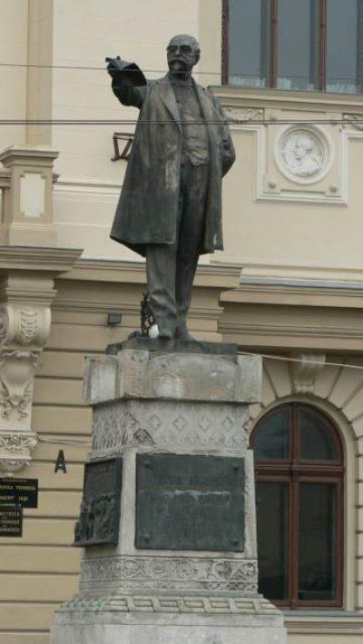 (COD 2087) – Statuia lui Titu Maiorescu Iasi